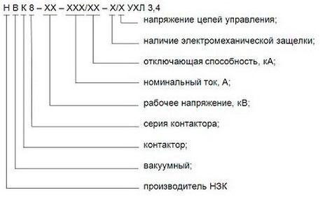 Вакуумные контакторы НВК8 (6(10) кВ, 160-630 А)