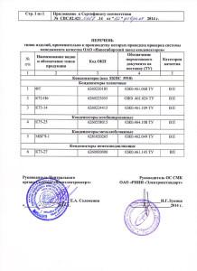 Сертификаты. Новосибирский Завод Конденсаторов